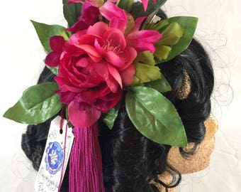 Cherry Tassel Fascinator Clip