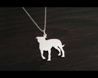 Staffie ( Staffordshire Bull Terrier) Sterling Silver Pendant