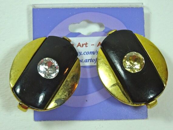 SJC10022 - Clasp Vintage earrings - Some visible damage