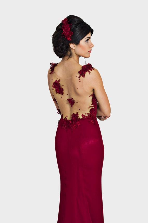 Mutter der Brautkleid lang formelle Kleidung rote