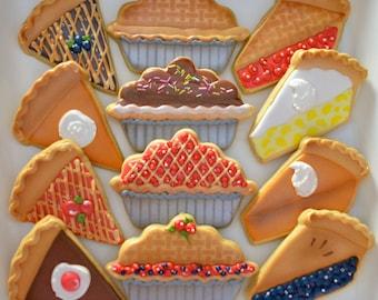 12 Assorted Pie Sugar Cookies