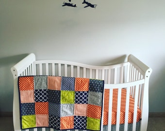 Custom Squares Crib Quilt