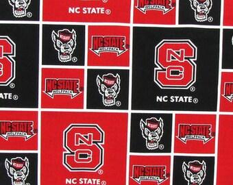 North Carolina State Wolfpack Block Collegiate 43 inch Cotton Fabric