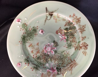 Asian Green Celadon Plates