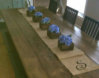 Rustic reclaimed flower boxes
