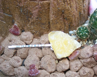 Orange Calcite Hair Pin!  Add a little sunshine into your day!