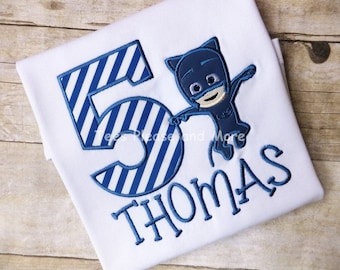 PJ Masks Catboy Inspired Birthday T-shirt Personalized