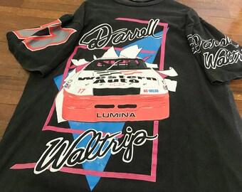 Vintage Darrell Waltrip Shirt Size XL Free Shipping 90s Darrell Waltrip  Nascar Racing Shirt By Chevrolet