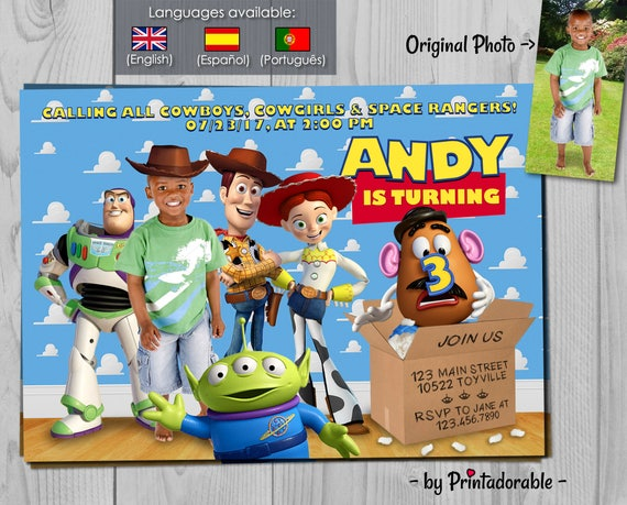 Toy Story Invitation - Toy Story Invite - Toy Story - Woody Invitation - Woody Invite - Toy Story Birthday - Buzz Lightyear - Woody