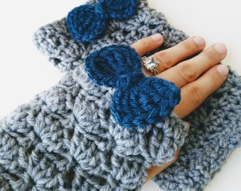 Fingerless Gloves/ Crocheted Gloves/ Women's Gloves