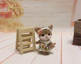 Needle felt - Needle felted cat - Handmade cat - cat miniature - cat - Kitty - Kitten
