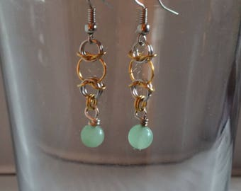 Lucky Green Aura Earrings