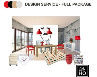 Interior Design Service online, eDesign. Complete 1 room design service. Easy and affordable