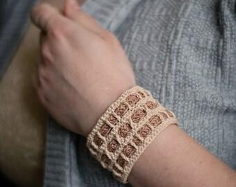 Crochet bracelet. Cotton bracelet. Textile bracelet. Knit bracelet. Boho bracelet. Boho jewelry. Everyday jewelry. Perfect gift.