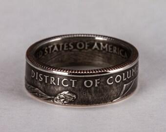 Washington D.C. Quarter Coin Ring