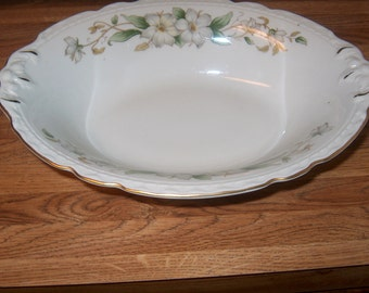 Vintage Dinnerware Embassy China Vegetable Bowl, Dogwood Flowers