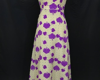 60's/70's Psychedelic Purple Tree Maxi Dress