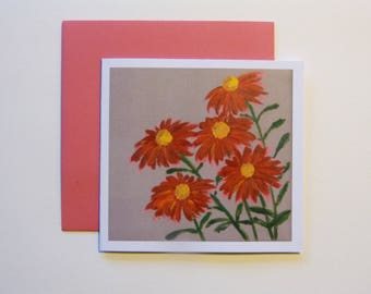 Carnations - greeting card