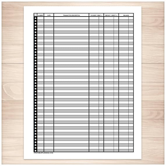 printable bank register