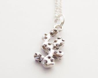 Succulent Necklace, Cactus Necklace, Succulent jewelry, Silver Cactus Necklace, Cactus Jewelry, Desert Cactus Necklace, Charm Necklace
