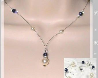 Ornament wedding Swarovski Collection Glamour necklace 2 - MARIAGE CÉRÉMONIE Kelly ♥ ♥