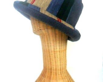 Bucket Hat Boho Hat Hippie Hat Hipster hat Bohemian hat Sun Hat gift, Rolled brim Summer Hat