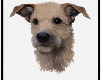 Rocco -Terrier Poodle Mix- Print