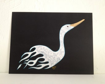 Flames Duck Original Painting