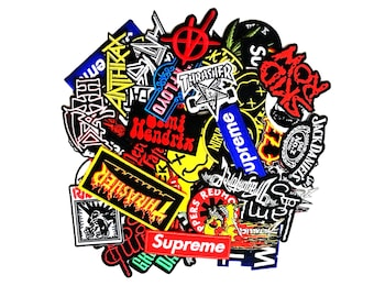 Wholesale Heavy Metal Rock Punk Music Band Embroidered Sew Iron On Patch Applique Random