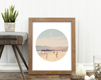 beach print, beach photo, summer decor, Santa Monica photograph, ferris wheel photo, California art, nursery wall art printable, kids room