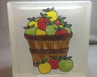 Basket of apples lighted block