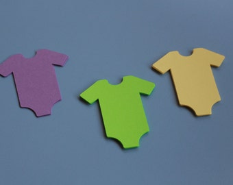 26 BABY PAPER ONSIES-Table confetti, gift tags, baby shower name settings for plates and more
