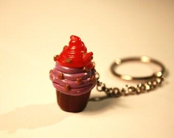 Cupcake Keychain, Cupcake Pendant, Food Key Chain, Polymer Clay Food, Cute Key chain, Cupcake Pendant, Miniature Food, Polymer Clay Food