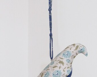 Flowery Bird Mobile Suspension - Ahlia Blue Bird