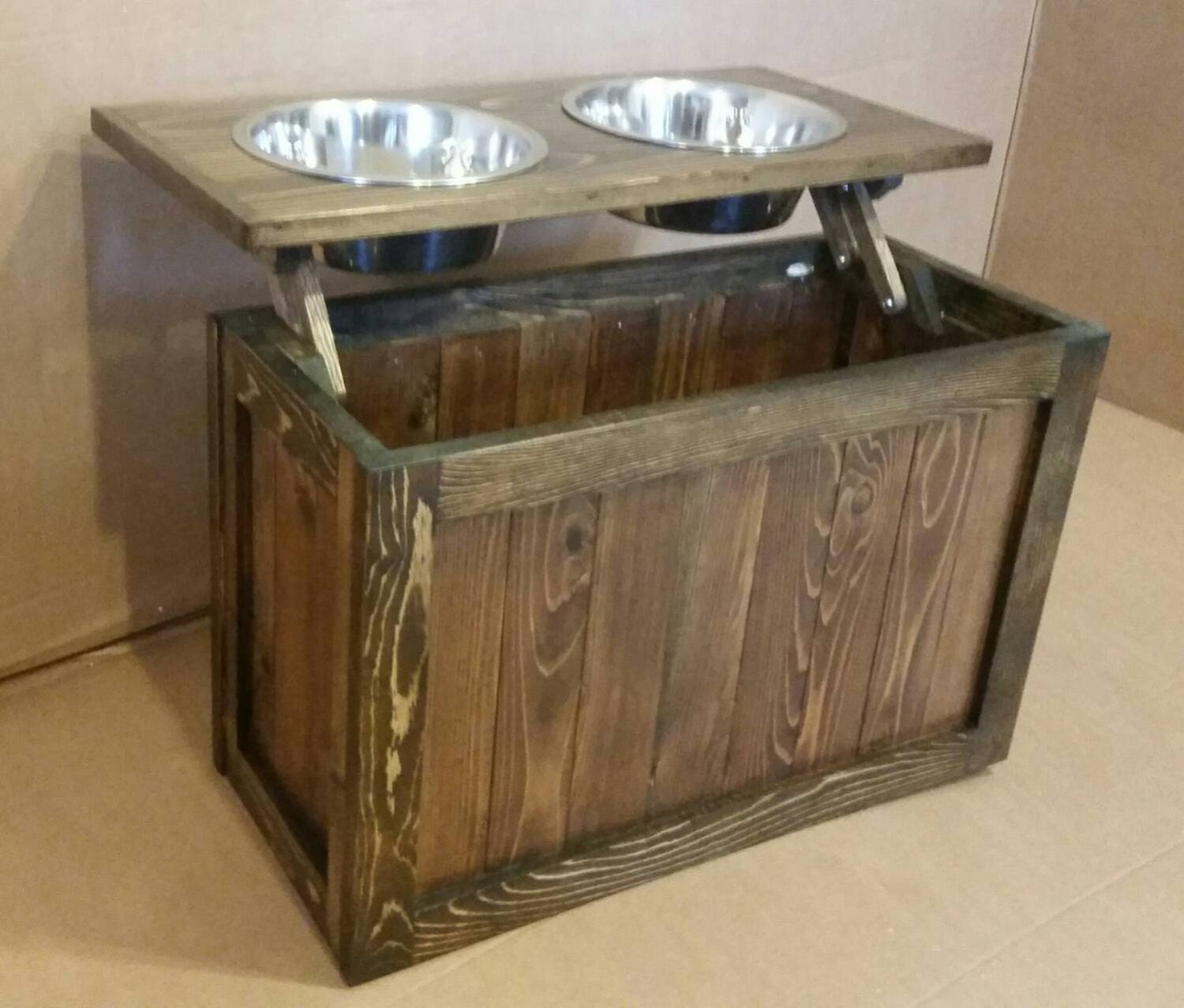 diy dog cat by elevated feeder feeding village bowl station chairs thediyvillage com projects the