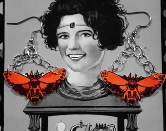Death moth earrings