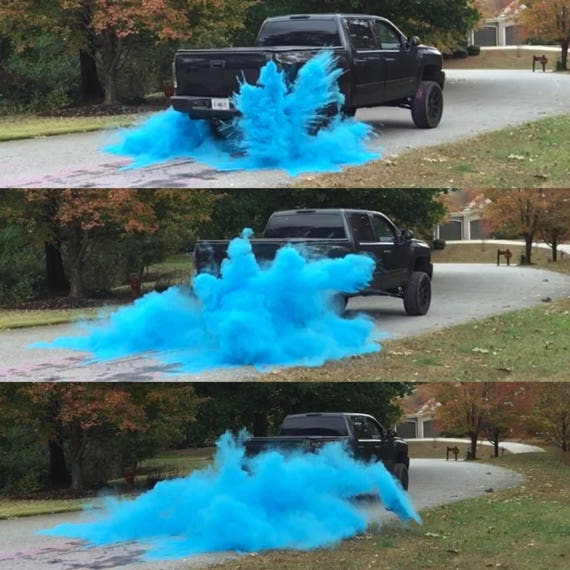 ORIGINAL BURNOUT  Gender Reveal Simple Black Tire Pack for Peel Outs, Burnouts, or easy Drive Gender Reveals! Ships Same Day!