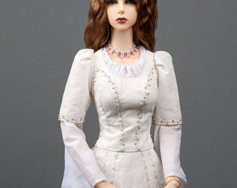 """Gorgeous light chestnut angora goat wig with ombre effect for SD, supergem or other doll with 8-9"""" head"""