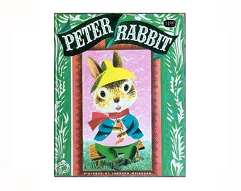 Peter Rabbit 1955  Picture Book, Vintage Children's Book, Excellent Condition