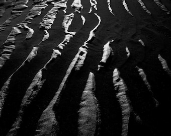 Patterns in the sand -  fine art monochrome photography