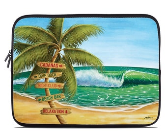 Laptop Sleeve Bag Case - Palm Signs by Al McWhite - Neoprene Padded - Fits MacBooks + More