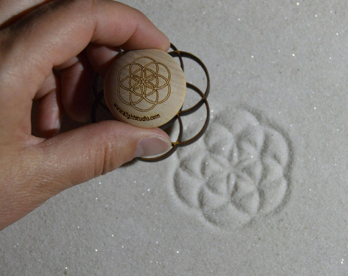 Sand Stamp, Seed of Life Design, Zen Garden Stamp