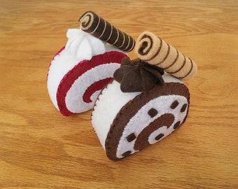Handmade Felt Roll Cakes