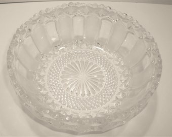 Vintage Crystal Bowl - Cut Crystal Bowl - Crystal Bowl - Crystal Serving Bowl