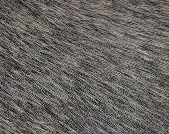 Fabric Fur artificial FU 10 dark gray | Per Metre