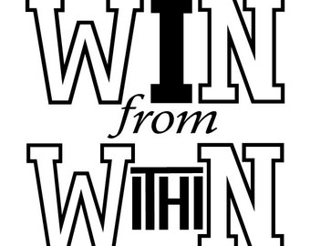WIN from WithiN  Vinyl Decal