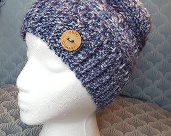 Woman's Crochet Acrylic Hat - Blue