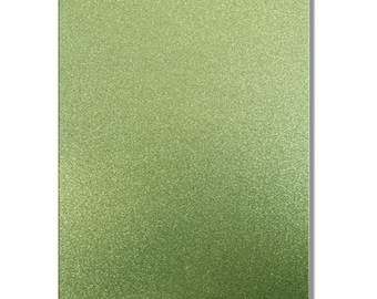 2 x A4 sheets of Premium Dovecraft Teal Green Glitter Card 220 gsm