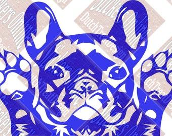 French Bulldog Vinyl Car sticker