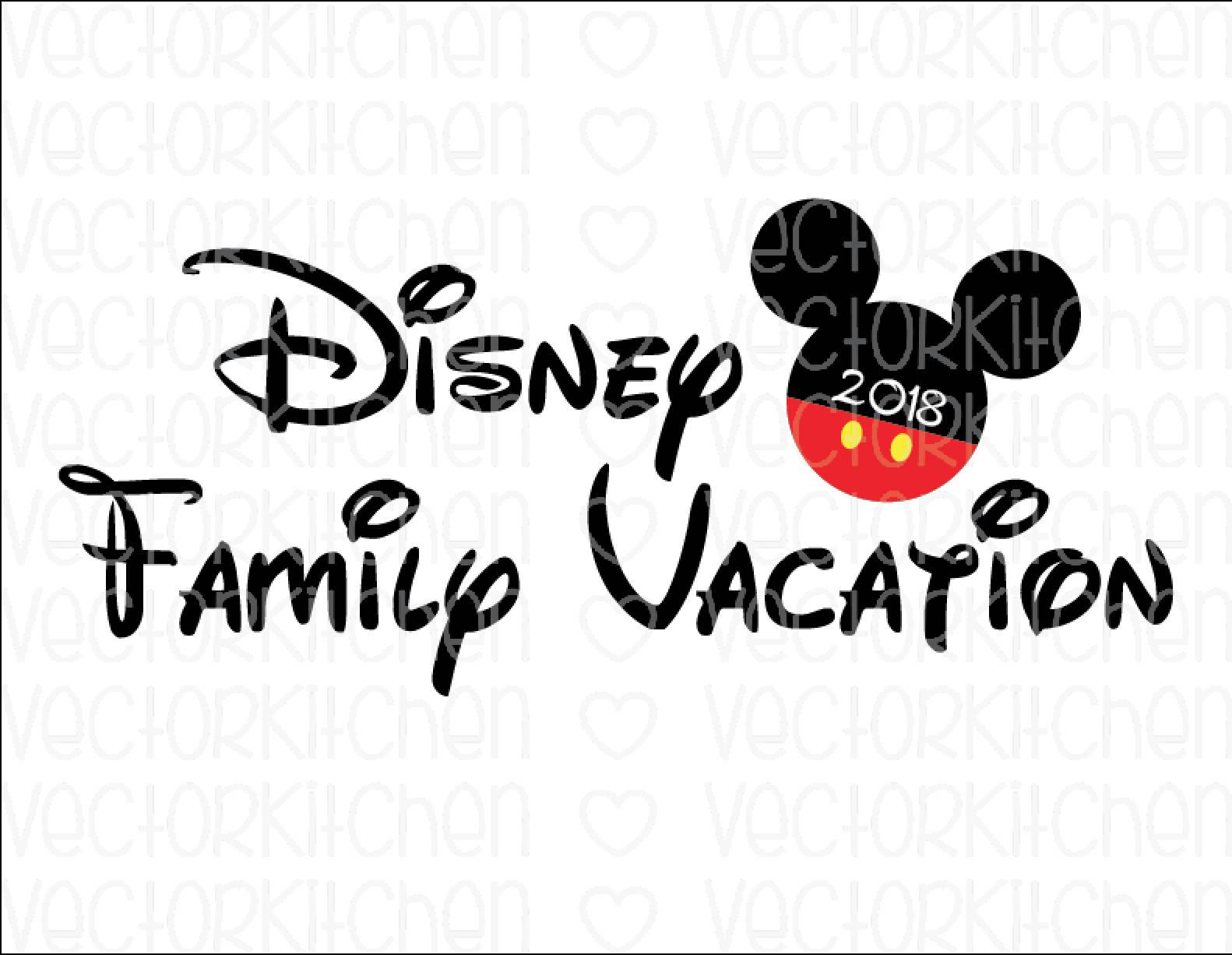 disney family vacation 2018 mickey diy printable iron on